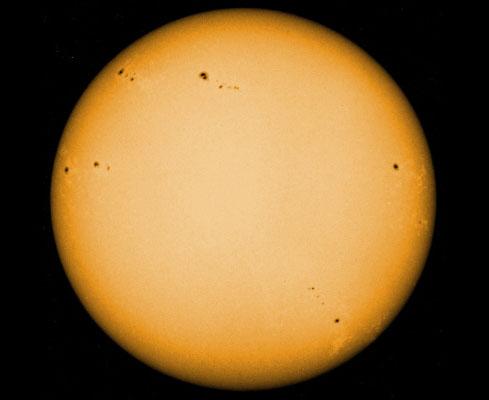 Photo: la photosphère du Soleil